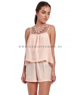 Coral playsuit