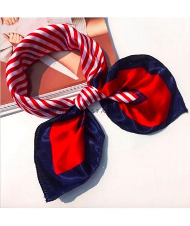 Rood/blauwe sjaal