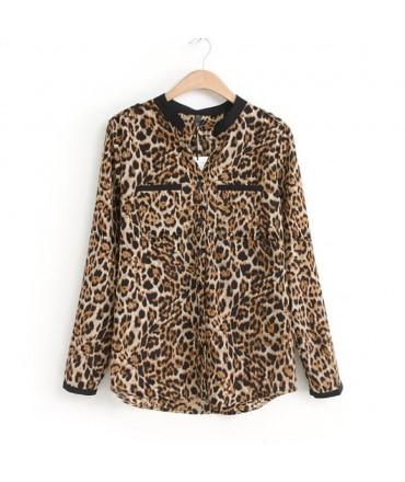 Luipaard print blouse