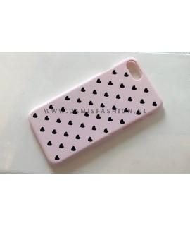 Roze hartjes hoesje voor iPhone 7