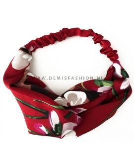 Rode bloemen haarband