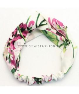 Witte bloemen haarband