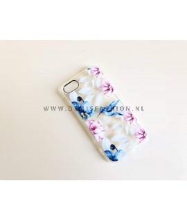 Bloemen vogel hoesje voor iPhone 7/8