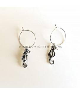 Zeepaardjes oorbellen