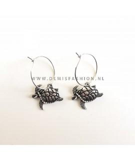 Kleine schildpad oorbellen