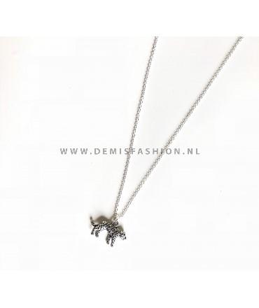 Luipaard ketting zilverkleurig