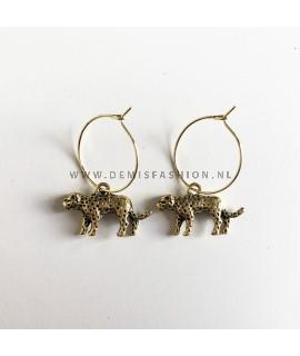 Luipaard oorbellen goudkleurig