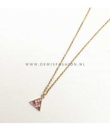 Ketting roze driehoek