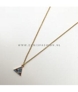 Ketting blauwe driehoek